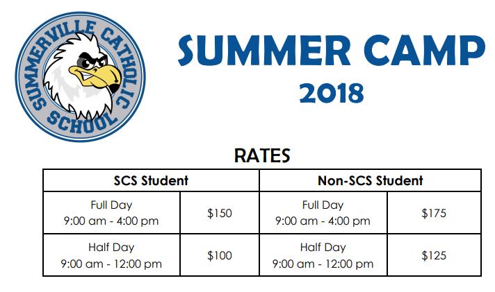 Summerville Catholic Summer Camp Info English